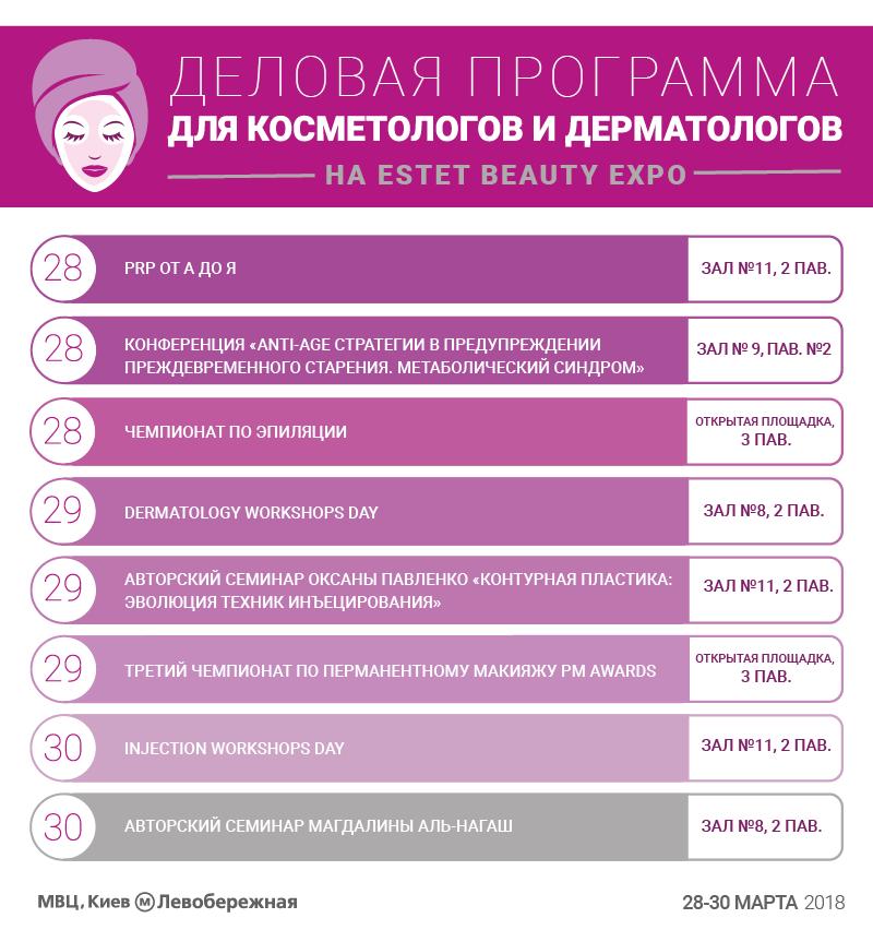 ESTET BEAUTY EXPO - Программа конгресса Индустрии красоты